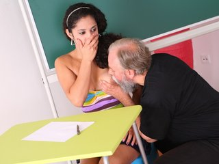 Lara tries to learn the study material with her teacher but realizes she needs to get extra help today.